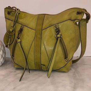 Fossil Green Leather Convertible very nice bag 😎